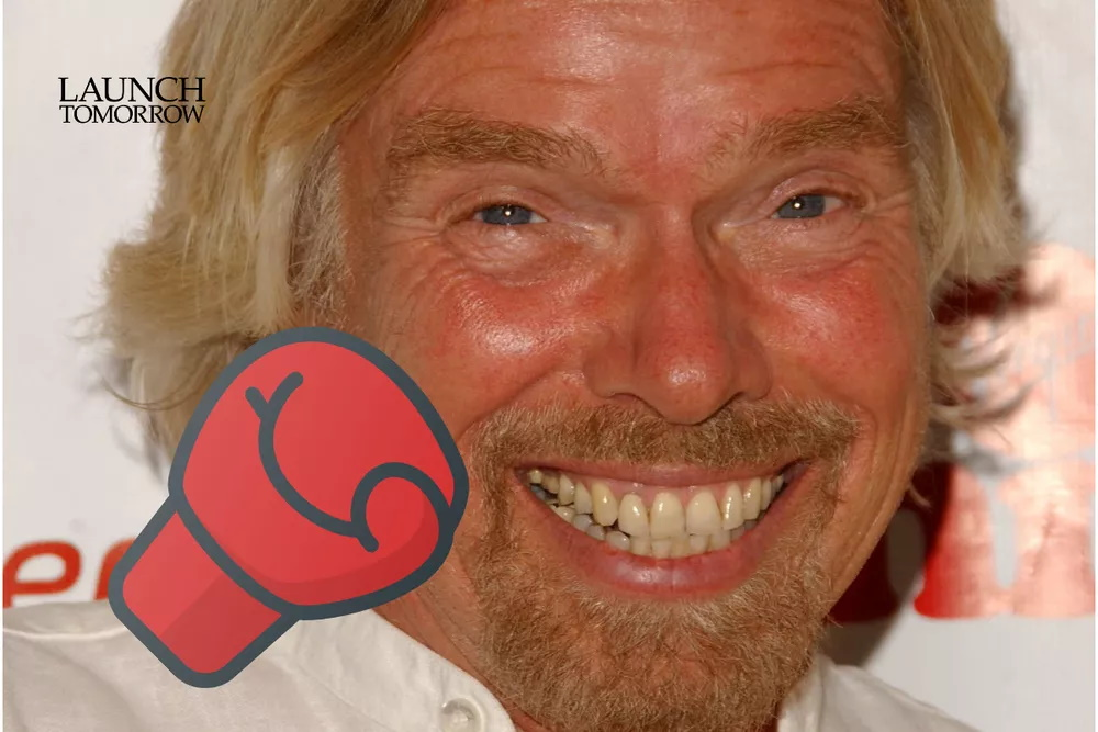 Richard Branson getting punched in the face
